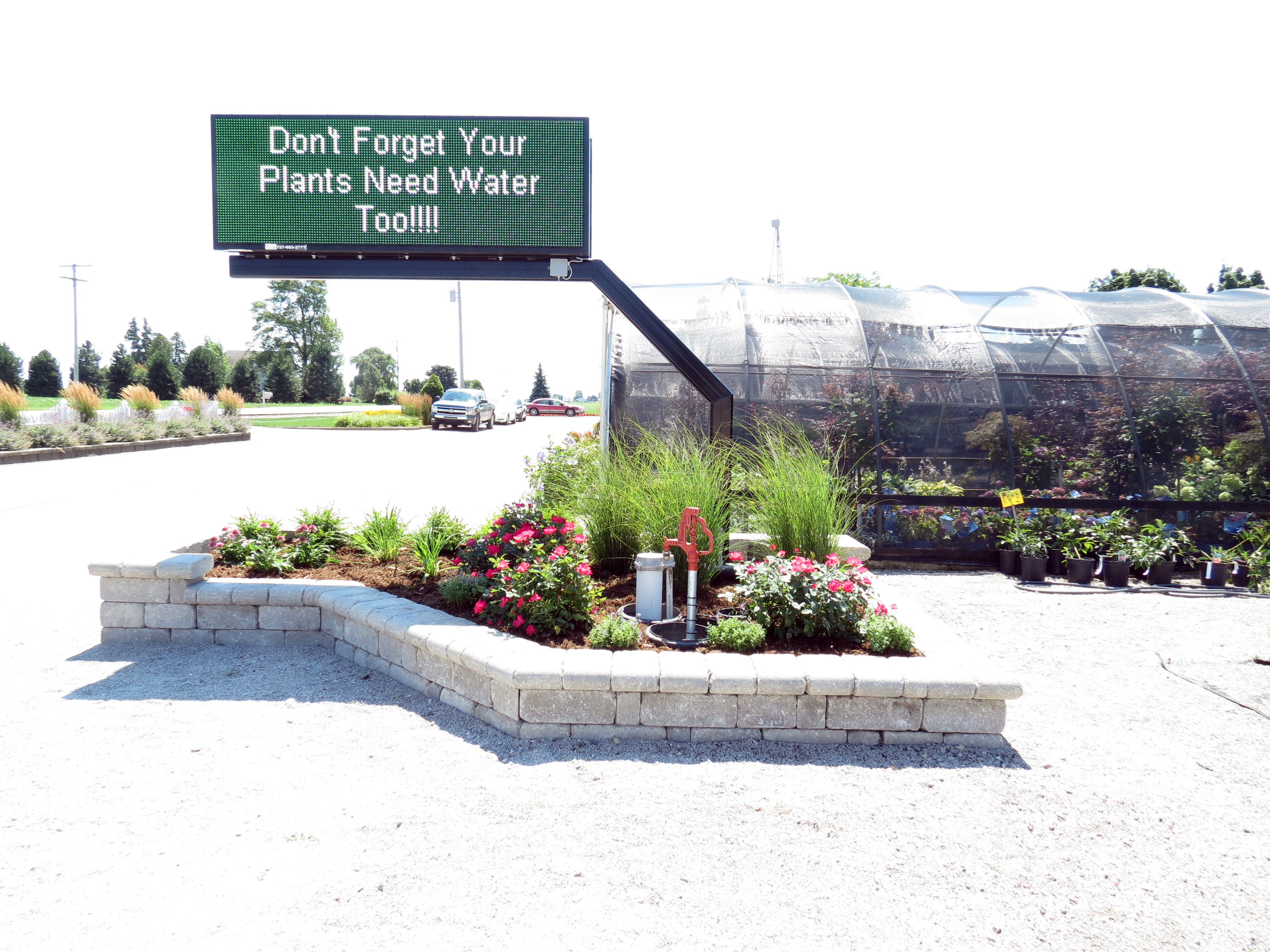 Garden center and sign